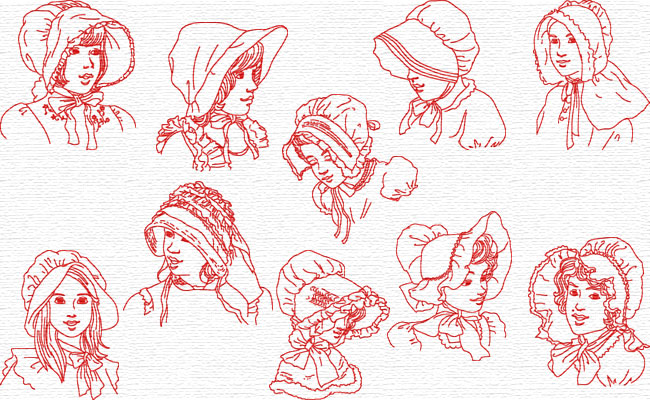Sunbonnets embroidery designs