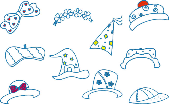 Bluework Hats embroidery designs