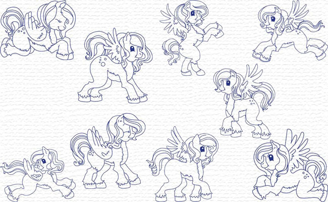 Bluework Pegasus embroidery designs
