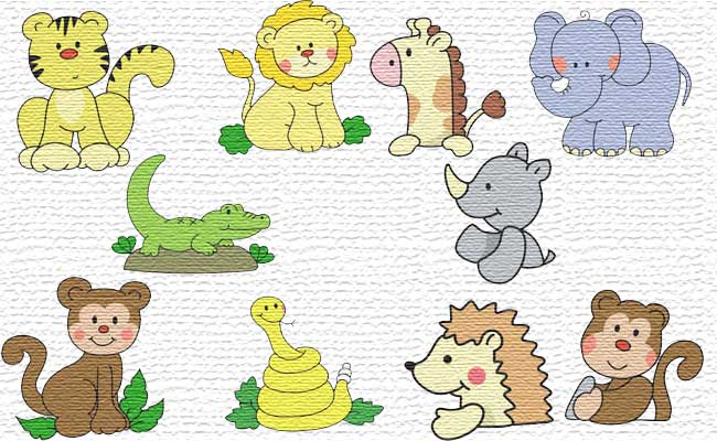 Jungle embroidery designs