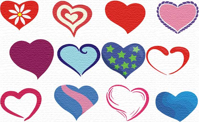 Hearts embroidery designs