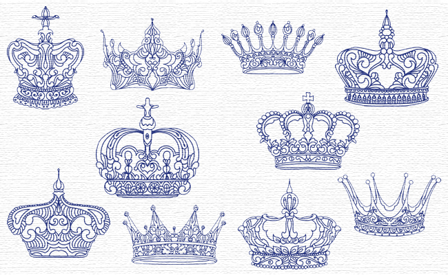 King Crowns embroidery designs