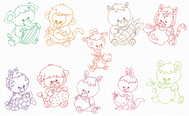Animals embroidery designs