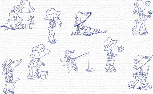 Bluework Little Farmer embroidery designs