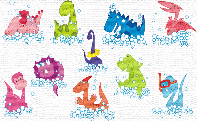 Dino embroidery designs