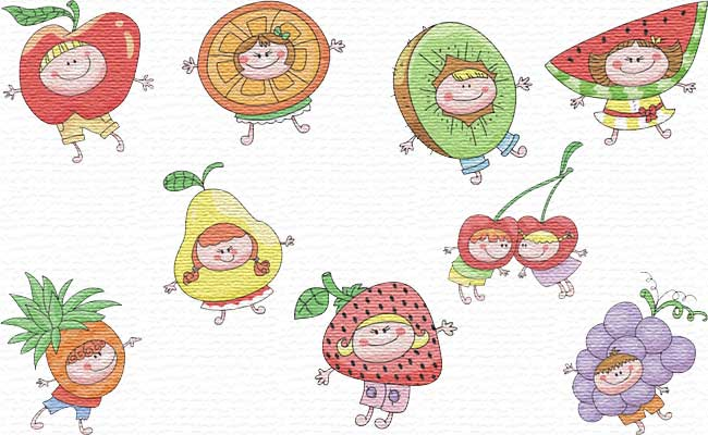 in the Fruits embroidery designs