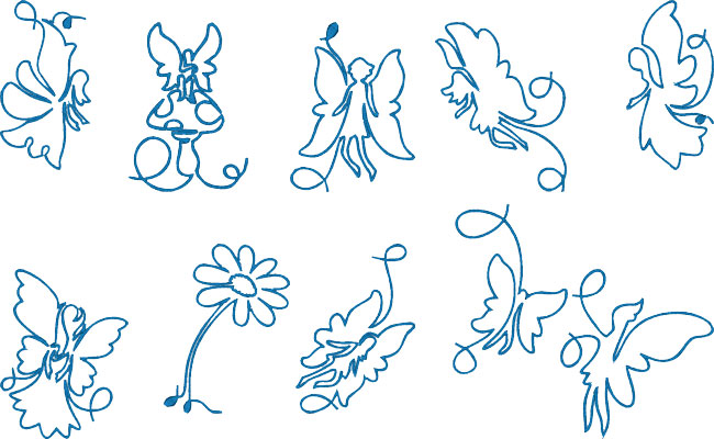Fairies embroidery designs