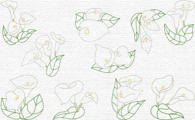 Colorline Calas Borders & Corners embroidery designs