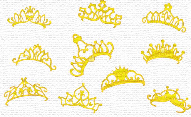 Tiaras embroidery designs