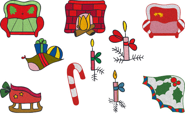 Xmas Time embroidery designs