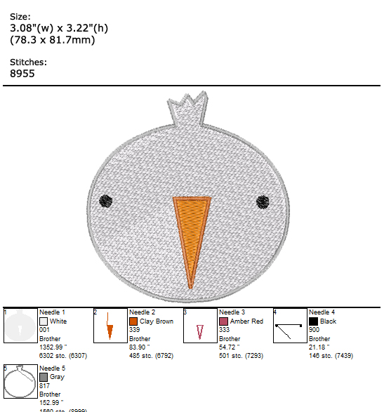 Bird custom embroidery design