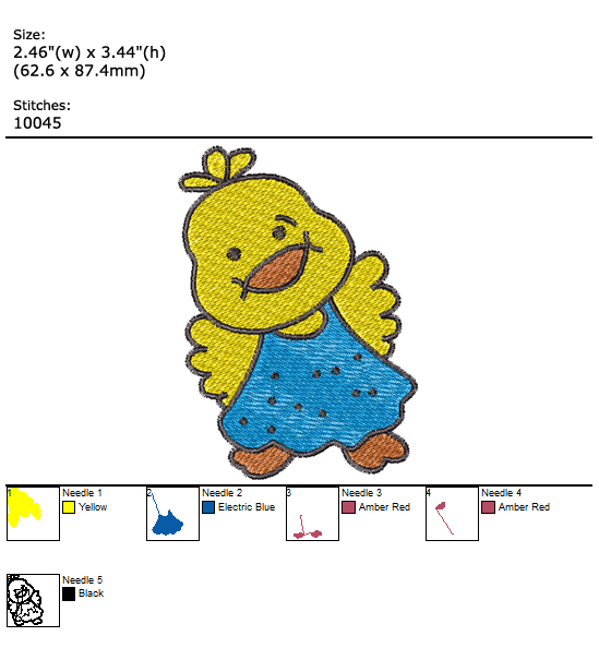 Little Duck custom embroidery design