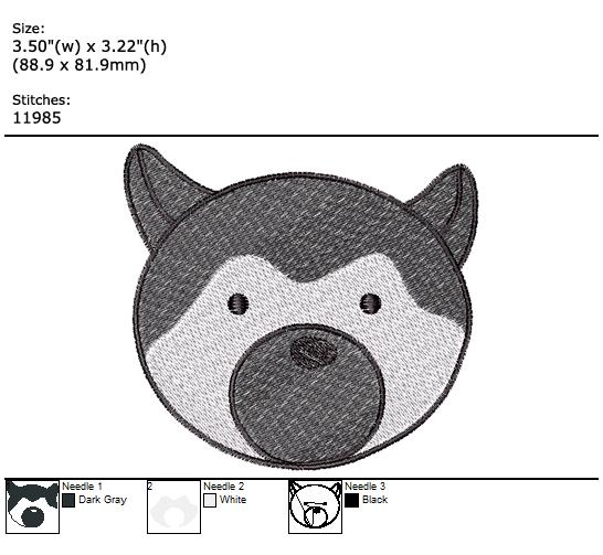 Cute Friend custom embroidery design