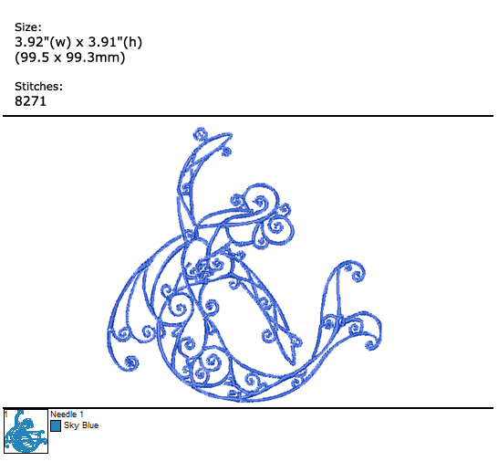 Mermaid custom embroidery design