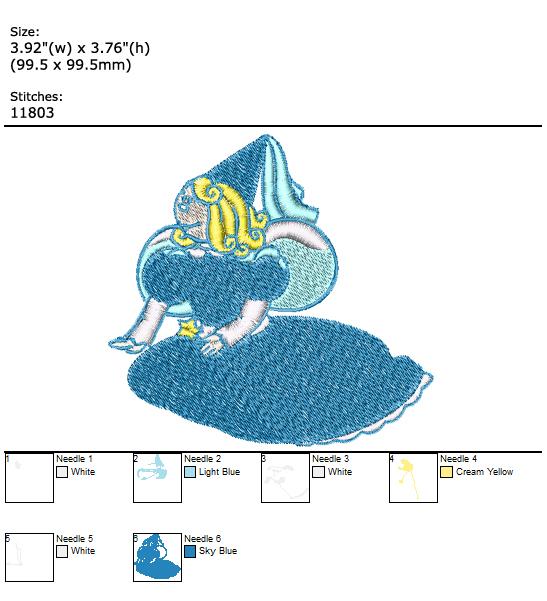 Fairy custom embroidery design