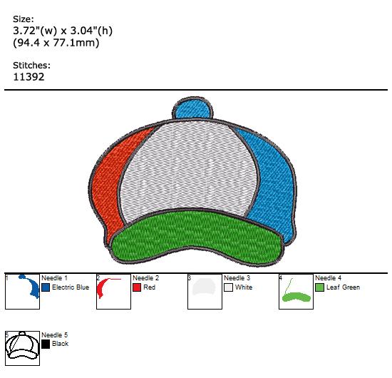 Hat custom embroidery design