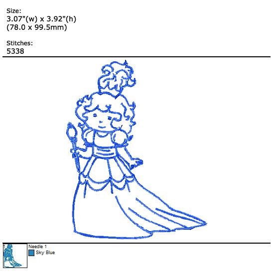 Little Princess custom embroidery design