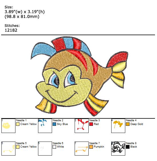 Sea Friend custom embroidery design