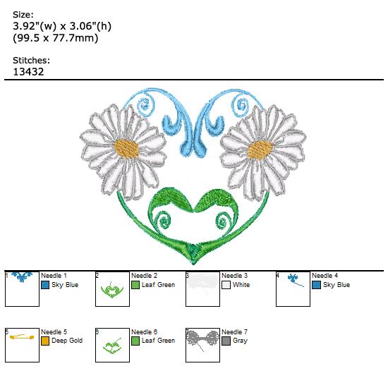 Flower custom embroidery design