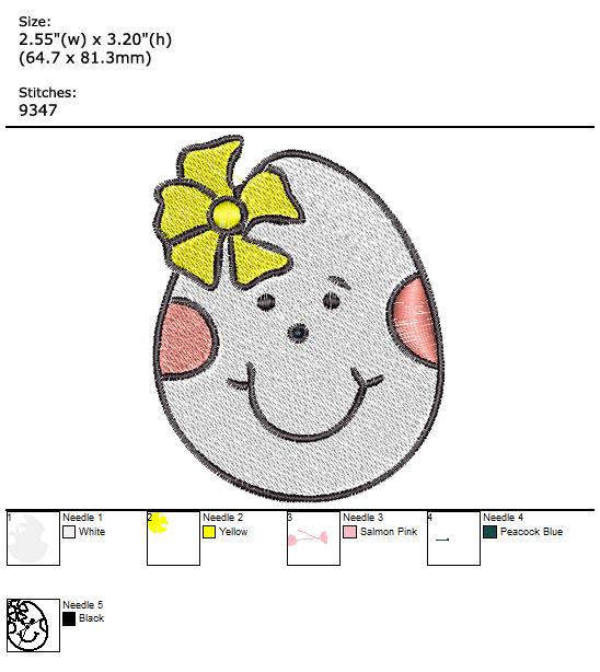 Easter Egg custom embroidery design