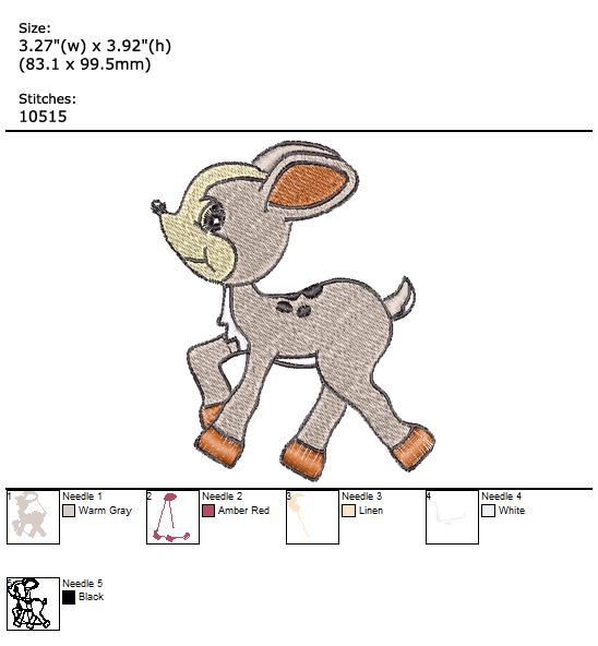 Little Deer custom embroidery design