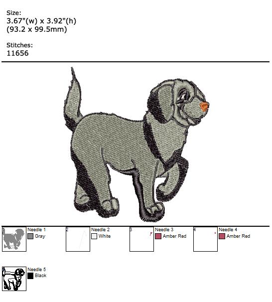 Labrador custom embroidery design